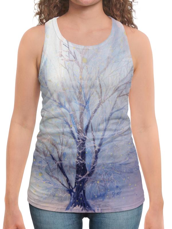 Борцовка с полной запечаткой Printio Зимнее дерево в сумерках майка борцовка print bar дерево любви