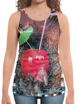 """Борцовка с полной запечаткой """"Яблочный микс"""" - напиток, абстракция, яблоко, фрукт, натюрморт"""