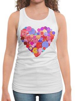 """Борцовка с полной запечаткой """"День всех влюбленных"""" - любовь, день святого валентина, валентинка, i love you, день влюбленных"""