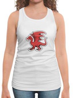 """Борцовка с полной запечаткой """"дракон"""" - крылья, животные, дракон, dragon, динозавр"""