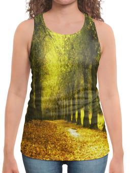"""Борцовка с полной запечаткой """"Листопад"""" - листья, осень, деревья, природа, листопад"""