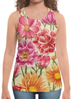 """Борцовка с полной запечаткой """"Садовые цветы"""" - красиво, цветы, природа, красивые цветы, садовые цветы"""