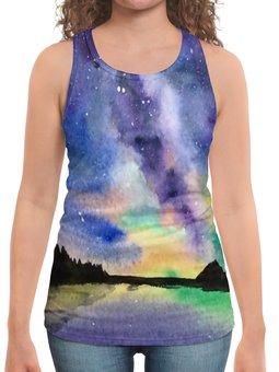 """Борцовка с полной запечаткой """"Природа"""" - звезды, небо, краски, природа, пейзаж"""