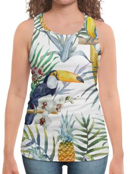 """Борцовка с полной запечаткой """"Пеликан и ананас"""" - красиво, птицы, природа, ананас, пеликан"""