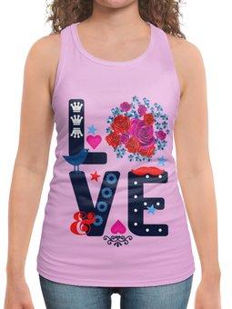 """Борцовка с полной запечаткой """" Любовь"""" - любовь, цветы"""