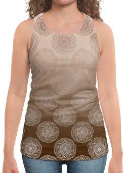 """Борцовка с полной запечаткой """"Мандалы в стиле мехенди с градиентом """" - девушка, женщина, мандала, иллюзия, мехенди"""