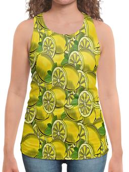 """Борцовка с полной запечаткой """"Лимон"""" - еда, ягоды, фрукт, лимон, плоды"""