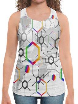 """Борцовка с полной запечаткой """"Формула"""" - узор, текстура, формула, химия, молекулы"""