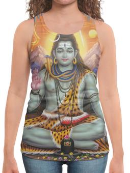 """Борцовка с полной запечаткой (Женская) """"Шива Siva"""" - йога, религия, индия, божество, шива"""