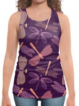 """Борцовка с полной запечаткой """"Стрекозы"""" - красиво, ярко, природа, насекомые, стрекозы"""