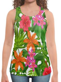 """Борцовка с полной запечаткой """"Тропики"""" - лето, цветы, summer, природа, тропики"""