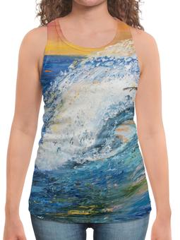 """Борцовка с полной запечаткой """"Волна"""" - арт, стиль, море, природа, волны"""