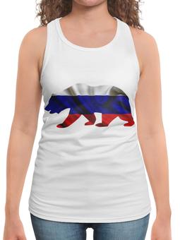 """Борцовка с полной запечаткой """"Русский Медведь"""" - bear, медведь, русский, флаг, russian"""
