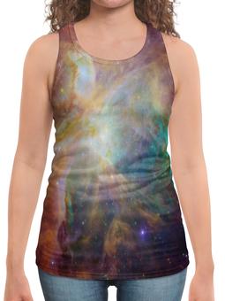"Борцовка с полной запечаткой ""Космические краски"" - звезды, космос, небо, краски, галактика"