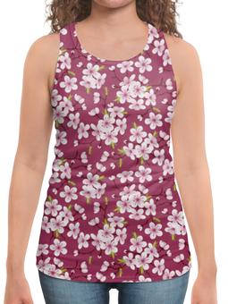 """Борцовка с полной запечаткой """"Цветущая вишня"""" - красиво, цветы, природа, цветочки, цветущая вишня"""