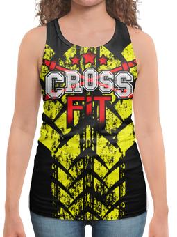 """Борцовка с полной запечаткой """"CROSSFIT"""" - gym, спортзал, штанга, crossfit, кроссфит"""
