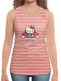 "Борцовка с полной запечаткой ""Ретро (Hello Kitty)"" - hello kitty, мультфильм, котик, в полоску, рэтро"