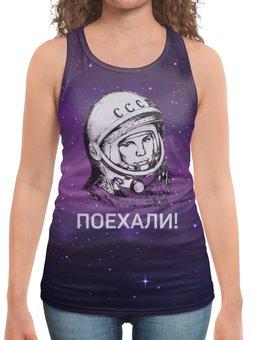 """Борцовка с полной запечаткой """"Космонавтика"""" - ссср, космос, гагарин, день космонавтики"""