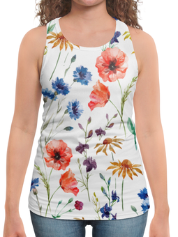"""Борцовка с полной запечаткой """"Полевые цветы"""" - красиво, цветы, природа, полевые цветы"""