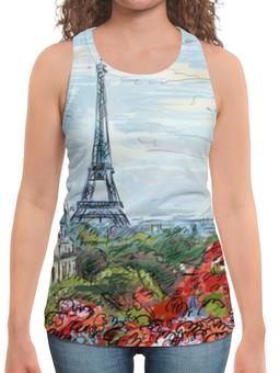 "Борцовка с полной запечаткой ""Эйфелева башня"" - графика, франция, париж, эйфелева башня"