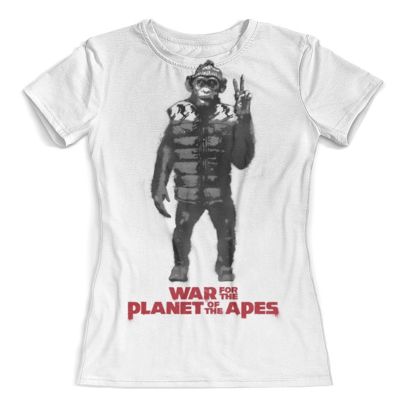 Футболка с полной запечаткой (женская) Printio Планета обезьян / planet of the apes