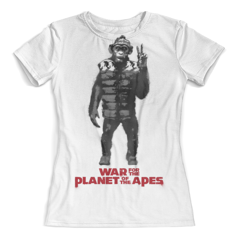 Футболка с полной запечаткой (женская) Printio Планета обезьян / planet of the apes cd диск guano apes the best and the lost t apes 2 cd