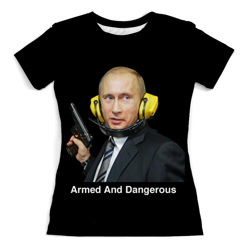 Футболка с полной запечаткой (женская) Printio Armed and dangerous путин футболка с полной запечаткой мужская printio armed and dangerous путин