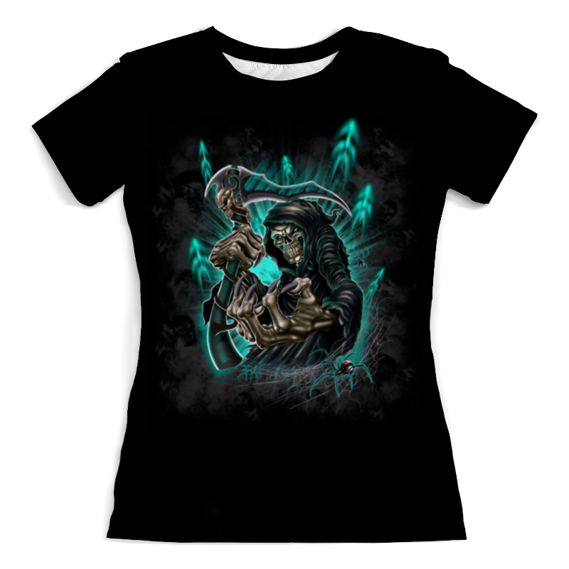 Футболка с полной запечаткой (женская) Printio Смерть с косой футболка с полной запечаткой женская printio миньон