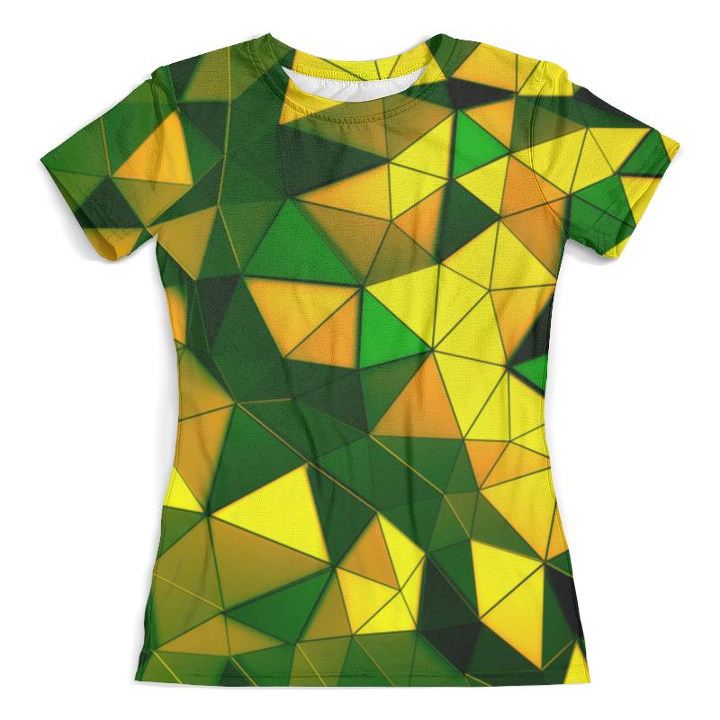 Футболка с полной запечаткой (женская) Printio Желто-зеленые стекла футболка с полной запечаткой женская printio желто зеленый узор