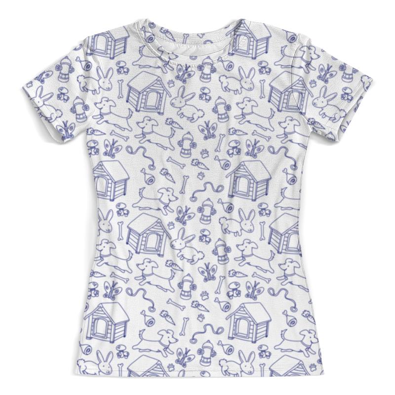 Футболка с полной запечаткой (женская) Printio Собаки и кролики футболка с полной запечаткой для девочек printio собаки и кролики