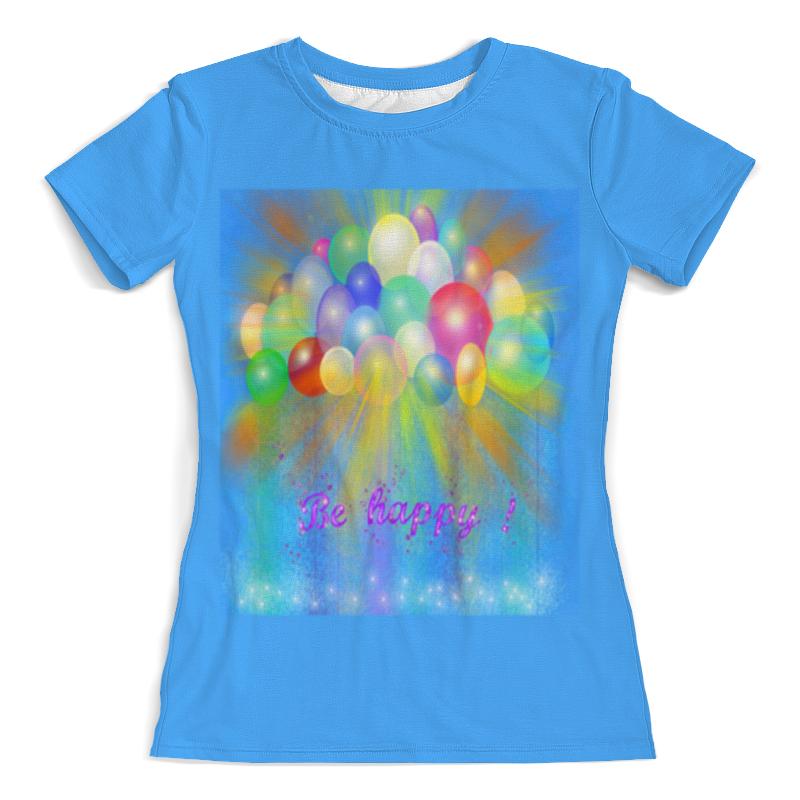 Футболка с полной запечаткой (женская) Printio Разноцветные воздушные шары. свитшот мужской с полной запечаткой printio воздушные шары