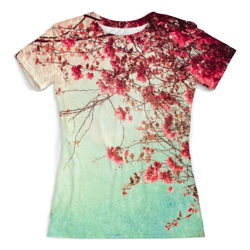 Футболка с полной запечаткой (женская) Printio Цветы футболка с полной запечаткой printio цветы любви