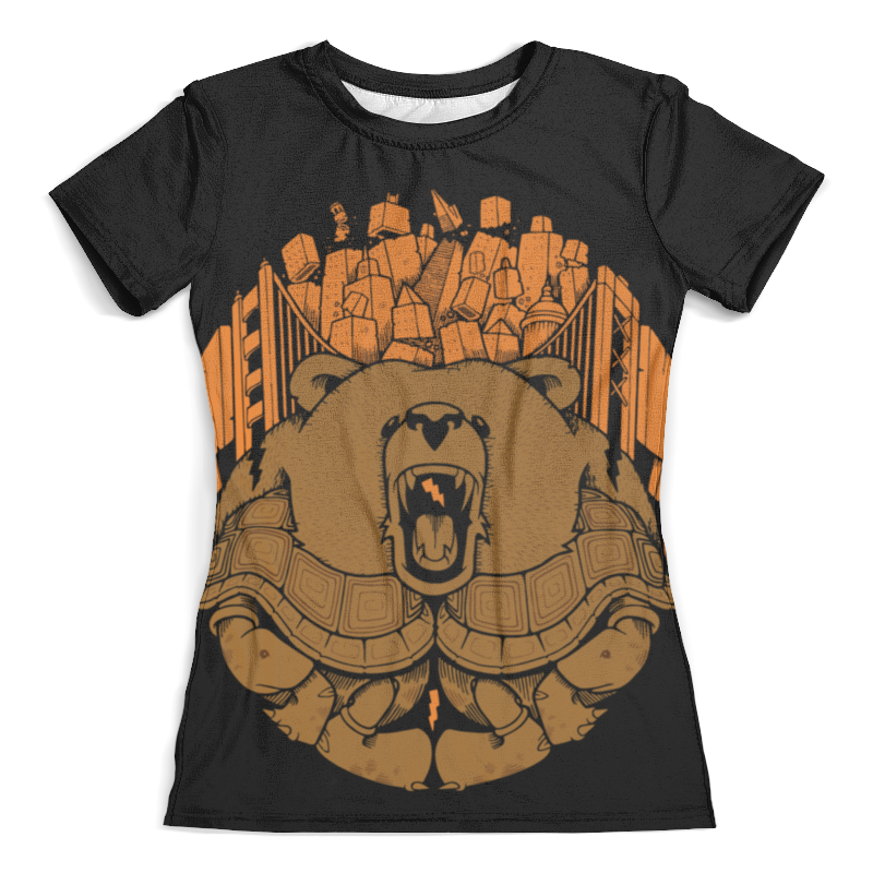 Футболка с полной запечаткой (женская) Printio Bear city / медведь (женская) футболка с полной запечаткой женская printio colorfull triangle