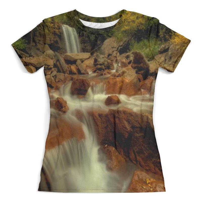 Футболка с полной запечаткой (женская) Printio Горный ручей футболка с полной запечаткой для мальчиков printio горный ручей
