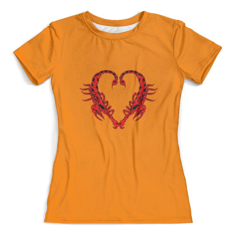 Футболка с полной запечаткой (женская) Printio Heart of the scorpion the brutal heart