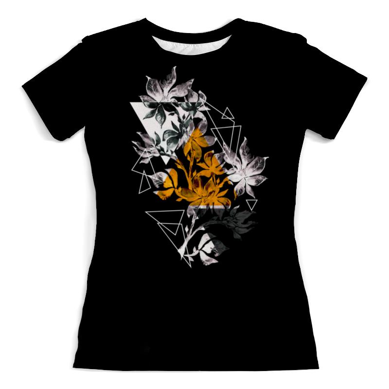 Футболка с полной запечаткой (женская) Printio Современный дизайн треугольники и цветы (1) halojaju современный и контрактный