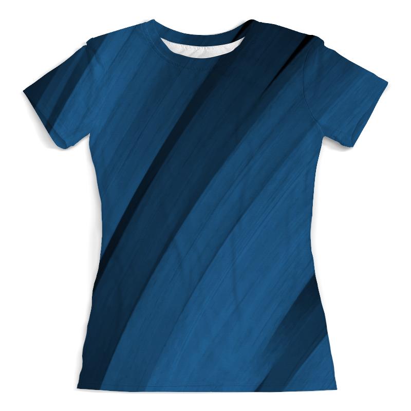 Футболка с полной запечаткой (женская) Printio Синяя абстракция футболка с полной запечаткой женская printio синяя абстракция