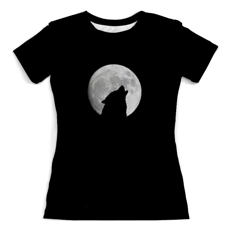 Футболка с полной запечаткой (женская) Printio Волк и луна canis тип 13