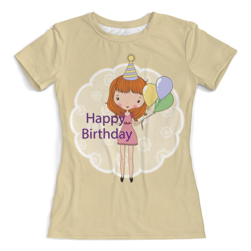 Футболка с полной запечаткой (женская) Printio День рождения футболка на день рождения