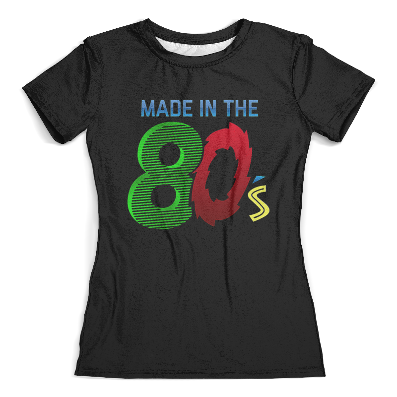 Футболка с полной запечаткой (женская) Printio Made in the 80s цена и фото