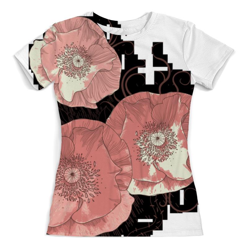 Футболка с полной запечаткой (женская) Printio Цветение мака футболка с полной запечаткой женская printio цветение лета