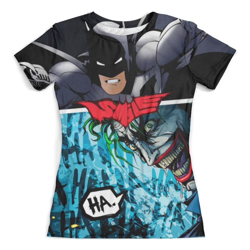 Футболка с полной запечаткой (женская) Printio Smile (batman vs. joker) футболка с полной запечаткой для девочек printio smile batman vs joker