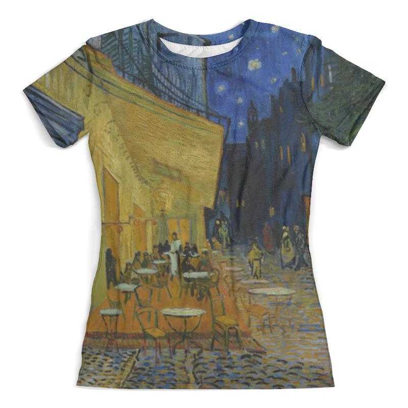 Футболка с полной запечаткой (женская) Printio Ночная терраса кафе ( винсент ван гог) футболка с полной запечаткой для мальчиков printio ван гог