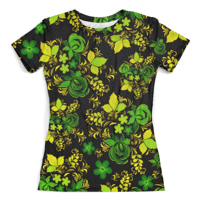 Футболка с полной запечаткой (женская) Printio Зеленый узор футболка с полной запечаткой женская printio желто зеленый узор