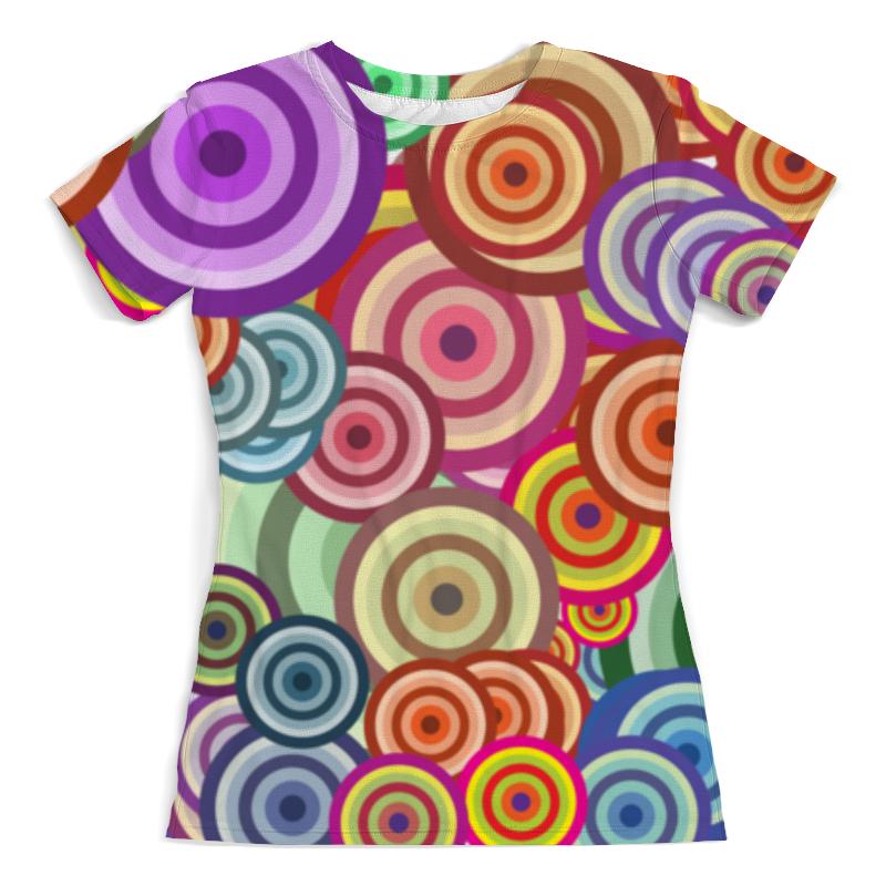 Футболка с полной запечаткой (женская) Printio Цветные круги футболка с полной запечаткой женская printio шары цветные