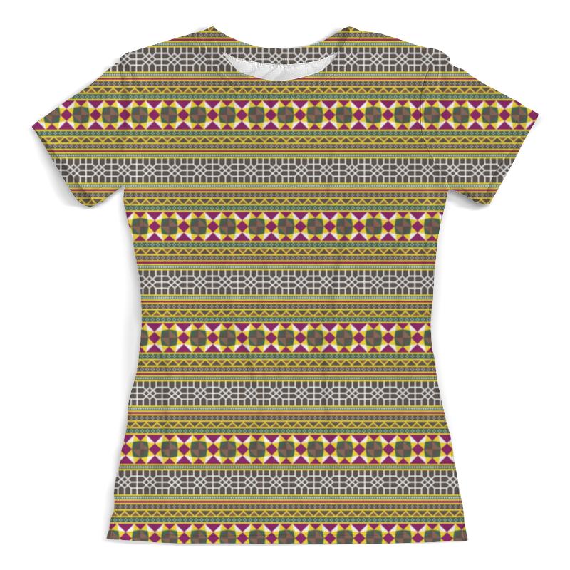 Футболка с полной запечаткой (женская) Printio Разноцветный геометрический орнамент футболка с полной запечаткой для мальчиков printio геометрический орнамент