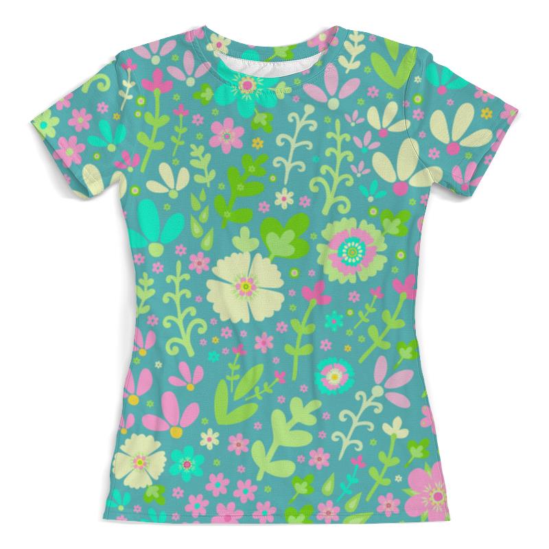 Футболка с полной запечаткой (женская) Printio Цветочная полянка футболка с полной запечаткой женская printio цветочная абстракция