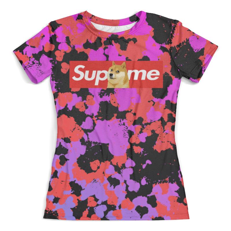 Футболка с полной запечаткой (женская) Printio Supreme краски футболка с полной запечаткой мужская printio supreme краски