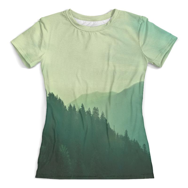 Футболка с полной запечаткой (женская) Printio Пейзаж футболка с полной запечаткой женская printio пейзаж с диском робер делоне