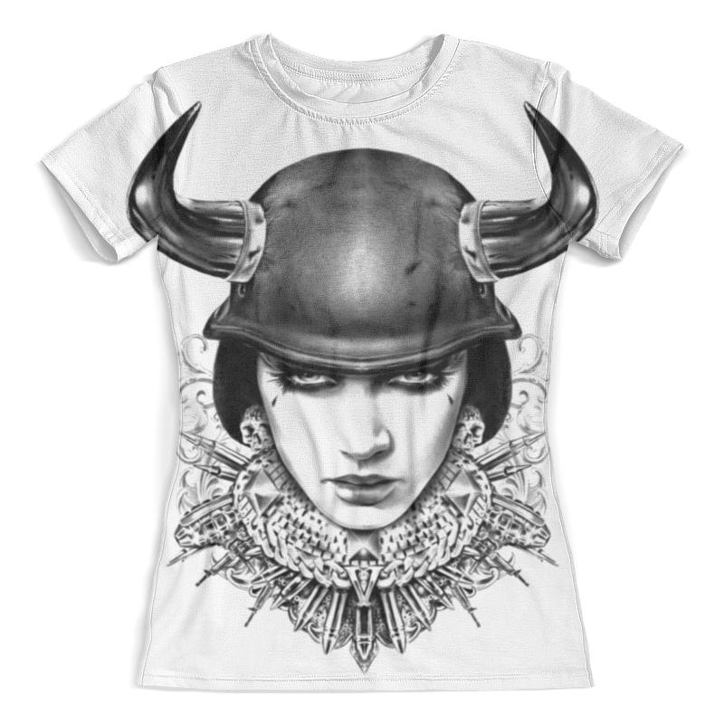 Футболка с полной запечаткой (женская) Printio Девушка в каске футболка с полной запечаткой женская printio набережная в крыму константин коровин